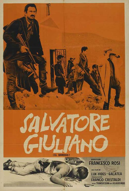 Poster for Salvatore Giuliano, 1962 - very impressive film directed by Francesco Rosi.