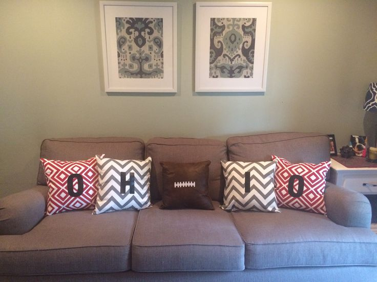 Ohio State throw pillows