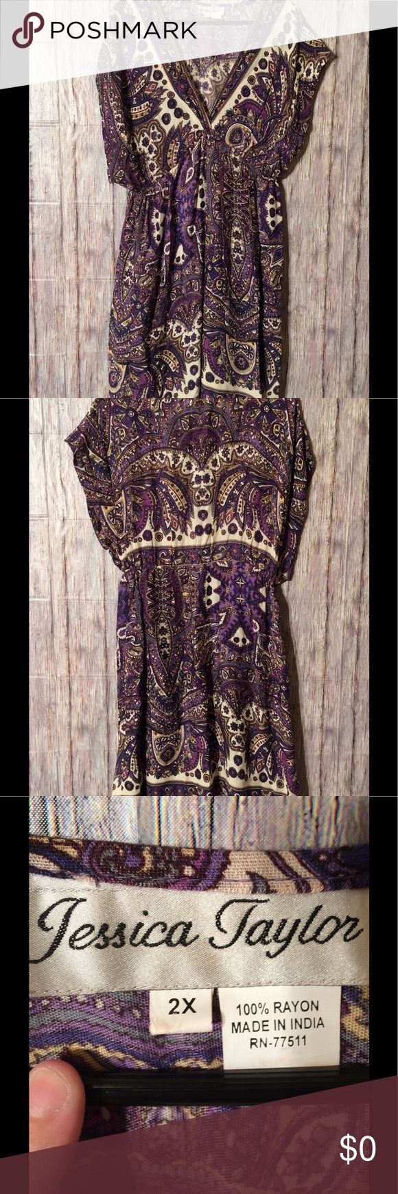 Jessica Taylor elegant yet casual summer dress Size 2x, excellent condition. May bundle with two or more additional items from this closet for 15% off! No holds or trades pls! Jessica Taylor Dresses Midi