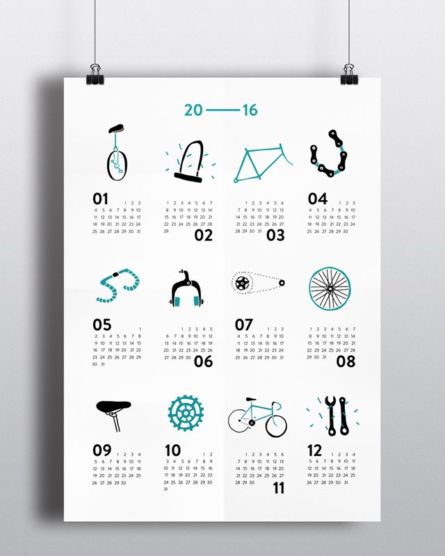 a calendar for bikers