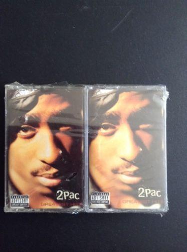 2Pac Greatest Hits 2 Cassettes West Coast Gansta Rap Hip Hop Tupac Shakur Lot 2