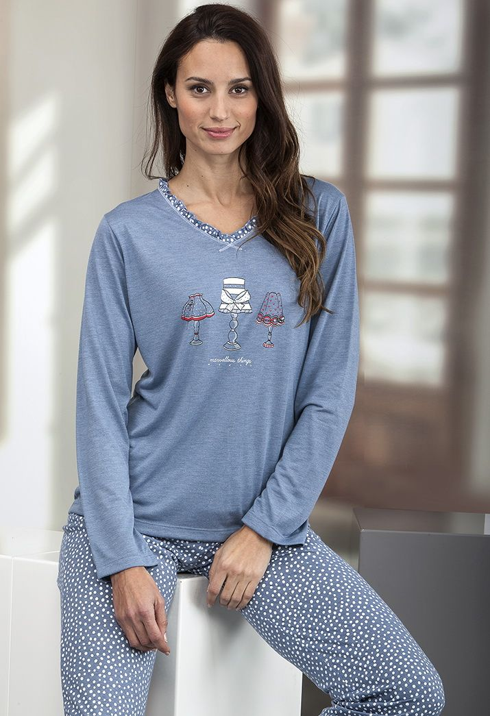 Pijama mujer en punto de viscosa Massana