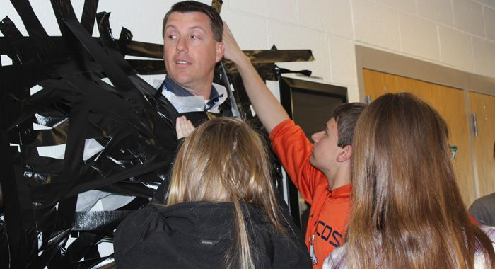 Yes, even duct-taping your principal to a wall can benefit someone in need. http://www.waupacanow.com/2016/04/27/taylor-vaughn-strong/