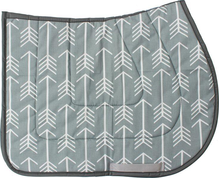 Grey and White Arrows Saddle Pad - USA MADE