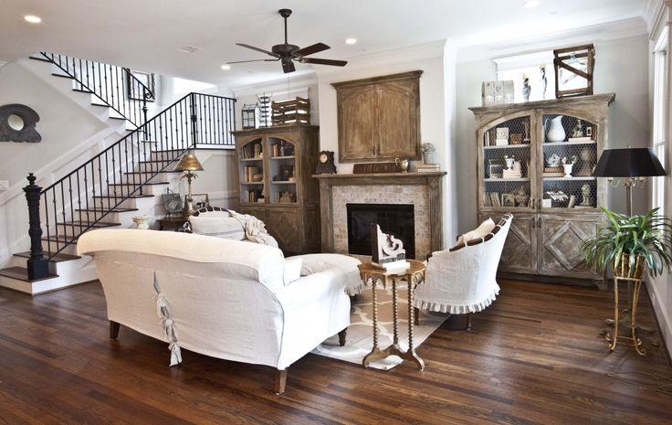 Decor Ideas, Living Rooms, Traditional Living Room, Livingroom, Cedar Hills, White Living Room, Farmhouse Style, Families Room, French Farmhouse Living Room