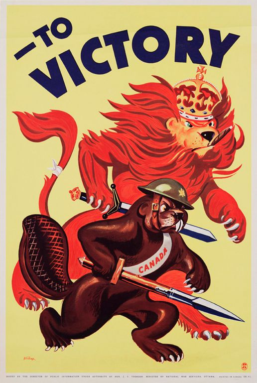Artist: Charles Rich Wilcox Title: To Victory, Canada, World War II Date: 1939-1945 Source: University of Washington Library and McGill University Digital Collection