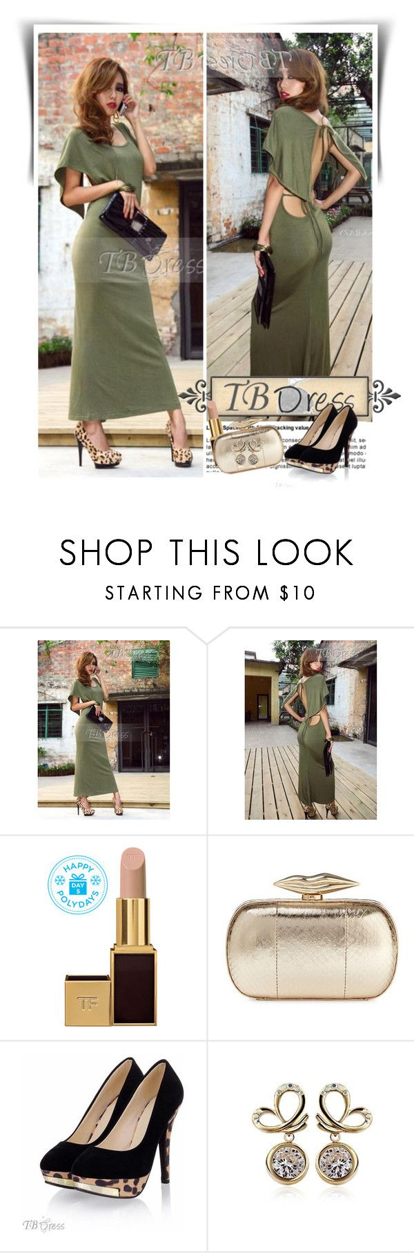 """""""TB Dress"""" by dalila-mujic ❤ liked on Polyvore featuring Tom Ford, Diane Von Furstenberg and tbdress"""