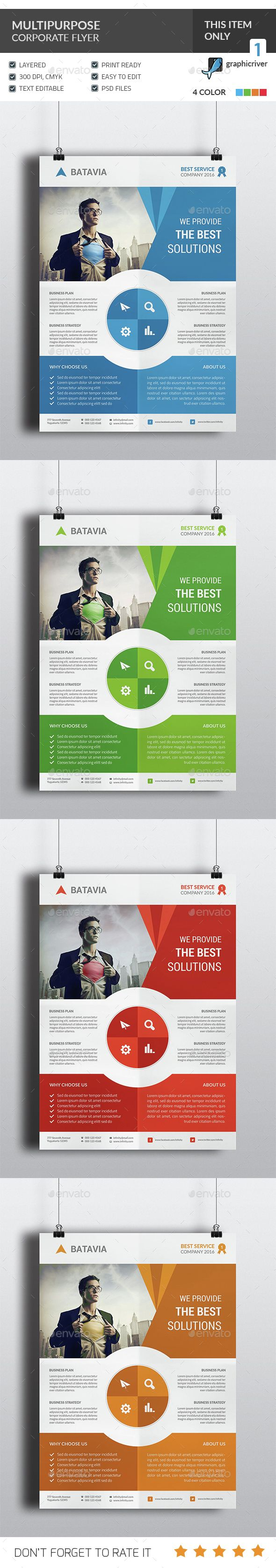 Multipurpose Corporate Flyer Template PSD. Download here: http://graphicriver.net/item/multipurpose-corporate-flyer/15232907?ref=ksioks