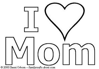 I love mom stencils pinterest maman coloration et for I love mom coloring pages printable
