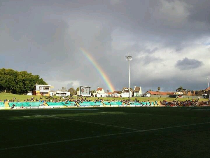 A gorgeous rainbow shot at Leichhardt Oval in Sydney, Australia.