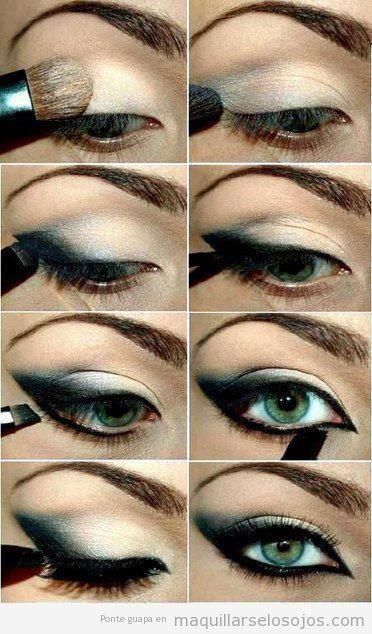 Tutorial paso a paso, maquillaje de ojos, miada felina con sombras