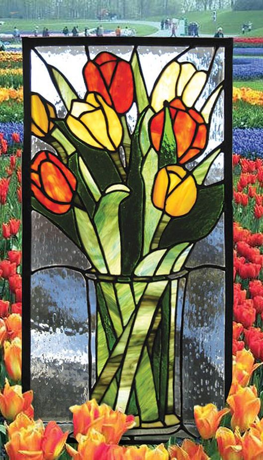 First Of Spring - by, Earthglass Stained Glass Studio