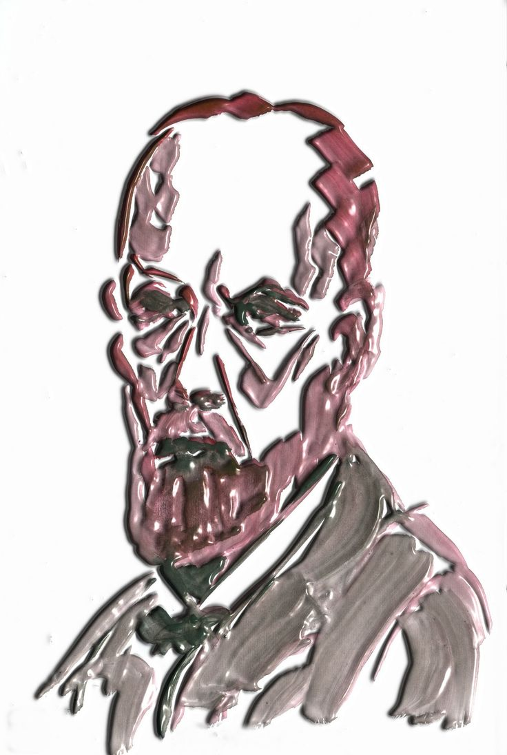 Rudolf Virchow. Pathologist.  Watercolor pyinted by JR Iglesias