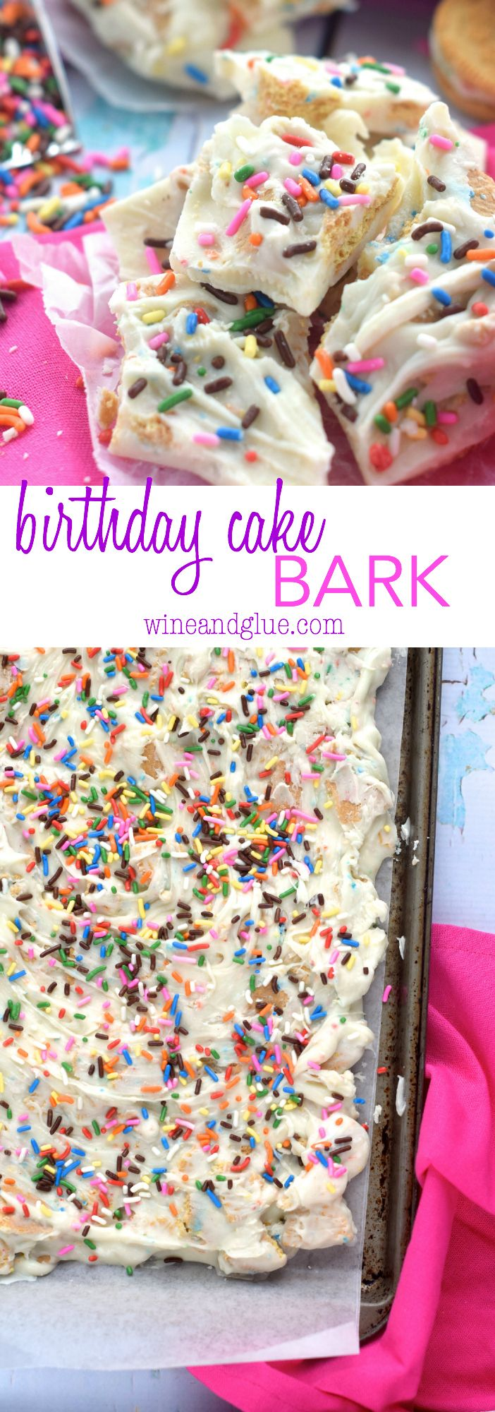 This Birthday Cake Bark is really easy to make, but irresistible!