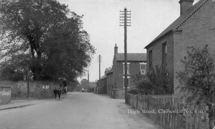 High Road, Chilwell. From the bottom of Cator Lane, looking towards Beeston. Dating from around 1920? Compare with the other picture from the same location.