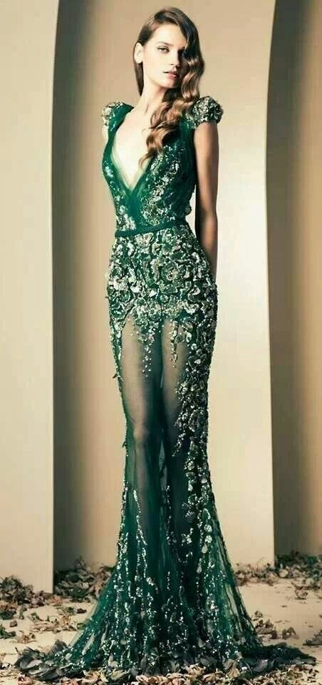 Emerald gown love fashion pinterest wedding gowns for Loving haute couture