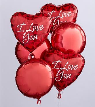 I Love Valentines Day because its the only time of the year that I want something elastic filled with helium.