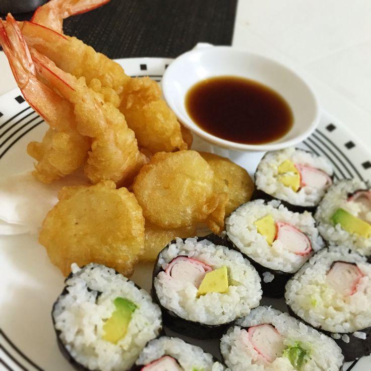 Tempura Prawns & Potato wd Surimi n Avocado Sushi