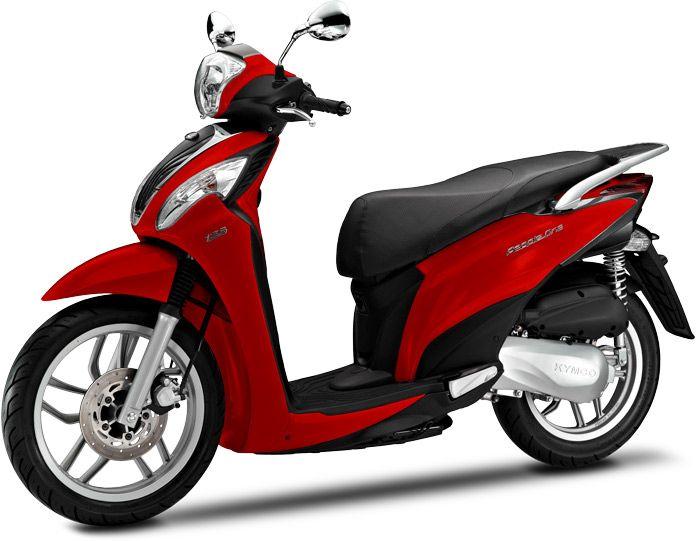 Le gabarit du scooter à grandes roues est idéal pour rouler en ville