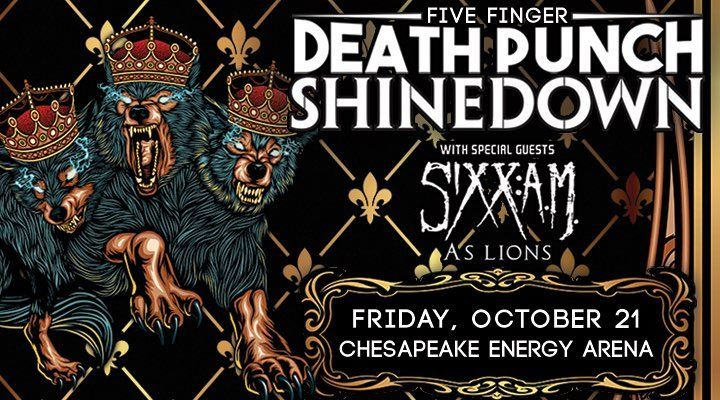 Oklahoma City OK! It's your turn to see #Shinedown at The Chesapeake Arena with #5FDP #SiXXAM and #ASLions Who's going to the show?! Show info: http://www.chesapeakearena.com/events/detail/five-finger-death-punch-shinedown-2016
