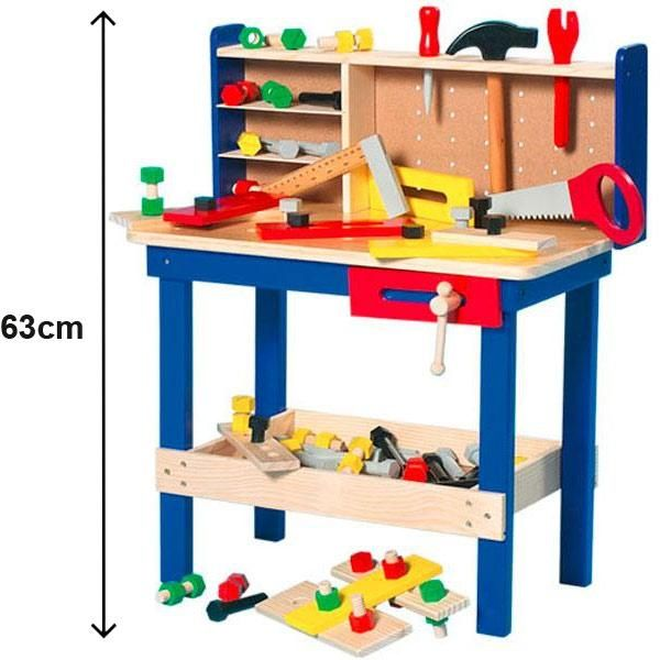Wooden Tool Bench With Toy Tools Photo 1 Marshall