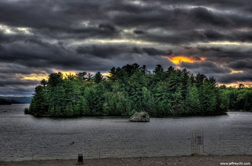 """Spruce Beach in Elliot Lake (aka The """"New Beach back in my days). Loved spending my summers there swimming to the rock."""