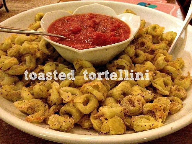 Ready for a ridiculously easy appetizer? This is a quick go-to of mine that is always a crowd pleee-zer. I usually cook the tortellini the night before a party or event and then toast it up about 2...