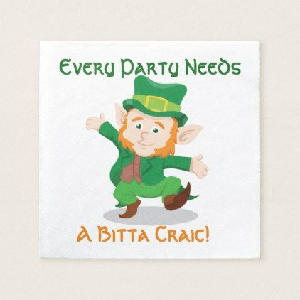 'Life Of The Party' Irish Paper Party Napkins - kitchen gifts diy ideas decor special unique individual customized