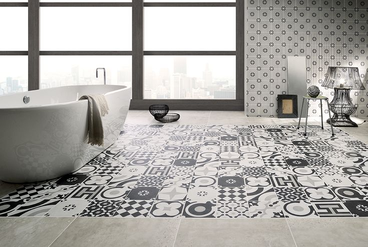 CEMENTINE BLACK&WHITE   Ceramiche Fioranese piastrelle in gres porcellanato per pavimenti esterni e per rivestimenti interni.