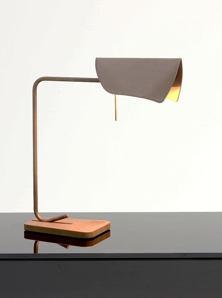 Velum table lamp for Fendi Casa www.luxurylivinggroup.com #Fendi #LuxuryLivingGroup