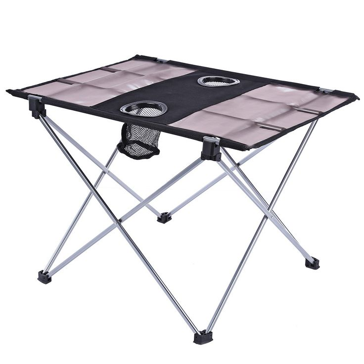 Portable Outdoor Ultralight Folding Table Aluminium Alloy Oxford Fabric Foldable Table For Camping Hiking Picnic Table With Bag