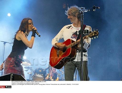 Francofolies @ La Rochelle ; Melissa Mars & Louis Bertignac © newscom