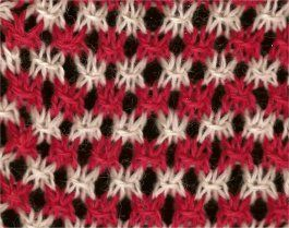 Two-Color Star - Knittingfool Stitch Detail