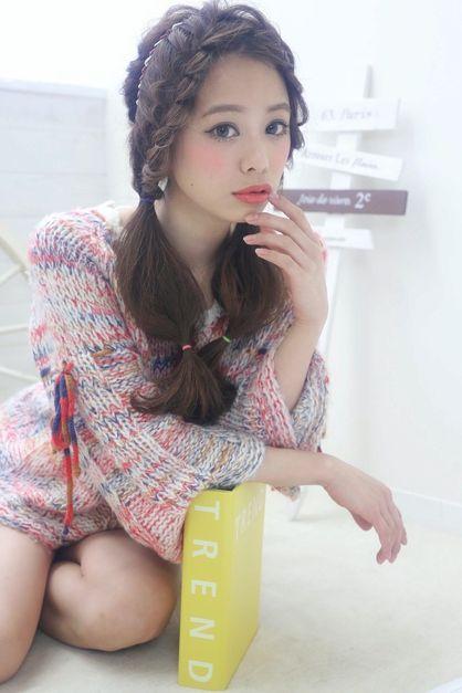 ☆sCene☆ 編み込みツインテール | 茨木の美容室 sCene ESTのヘアスタイル | Rasysa(らしさ)