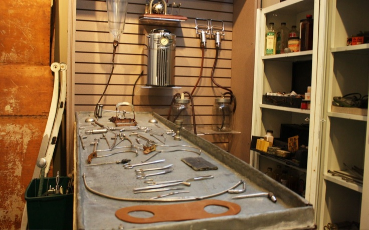 Old embalming table from the funeral home museum. Blog