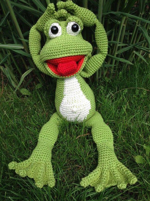 Die besten 25 frosch h keln ideen auf pinterest geh kelte tiere h keltiere und h kelarbeiten - Frosch auf englisch ...