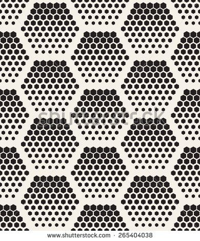 Vector seamless pattern. Modern stylish texture. Repeating geometric tiles with hexagons. Regular hipster background. Small circles form hexagonal minimalistic ornament.