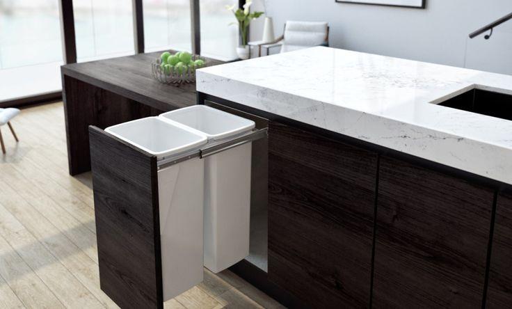 Apartment Kitchen - Hideaway Compact 2 x 40L Bin - KC240SCD