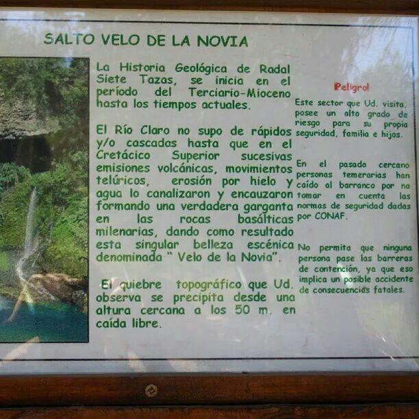 Historia geológica Radal Siete Tazas..