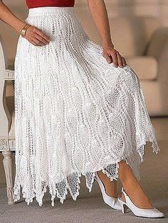 faldas largas elegantes tejidas - Buscar con Google
