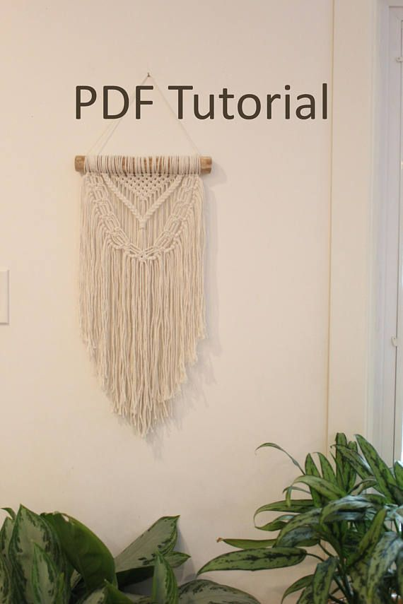 Macrame Wall Hanging Tutorial Pdf Instant Download Macrame