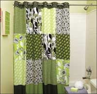 Make a shower curtain from fat quarters! Get the free project.