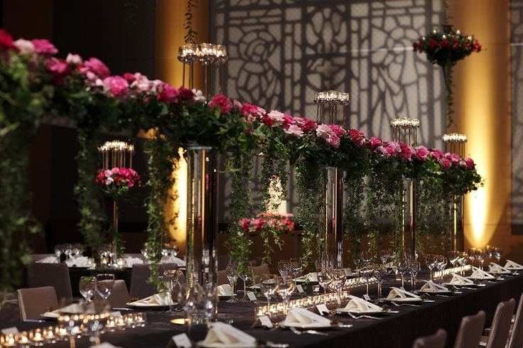 Roses, candles, and simplicity make this table setting perfect at Grand Hyatt Tokyo.