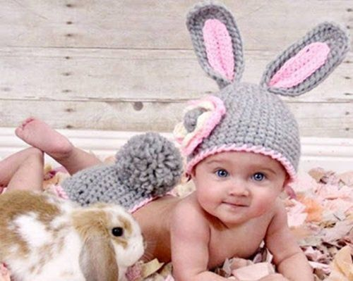 Animal Hat Crochet Patterns-bunny-1
