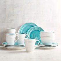 The glazed stoneware pieces of our Midori Collection have been carefully crafted so their irregular surfaces and rubbed edges can grace your table with the look of rustic pottery. Happily, our collection is dishwasher-safe, so it's ready to set for both daily meals and special occasions.