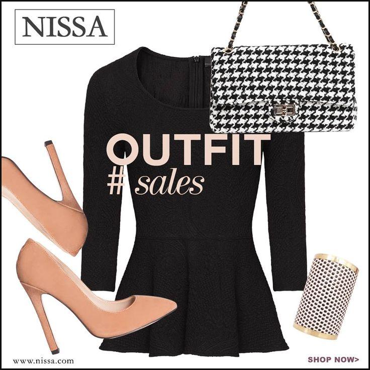 www.nissa.com  #nissa #fashion #fashionista #inspiration #fashionista #outfit #style #stylish #look #shoes #heels #top #bracelet #bag #accessories