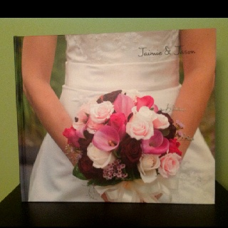 Front of wedding album made on blurb.com