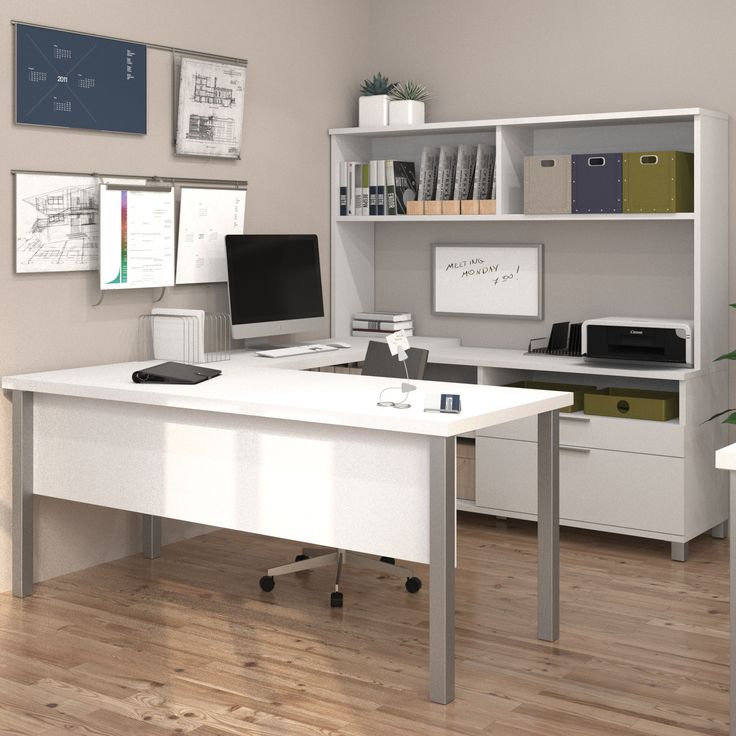 Bosworth 4-Piece U-Shape Desk Office Suite                                                                                                                                                                                 More