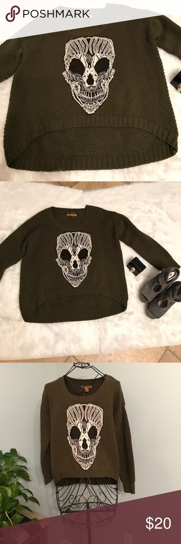 Love by design skull sweater Love by design skull sweater. Size XL. 100% acrylic. love by design Sweaters