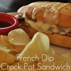 a {day} with lil mama stuart: Playoff Sunday Lunch - French Dip Crock Pot Sandwich